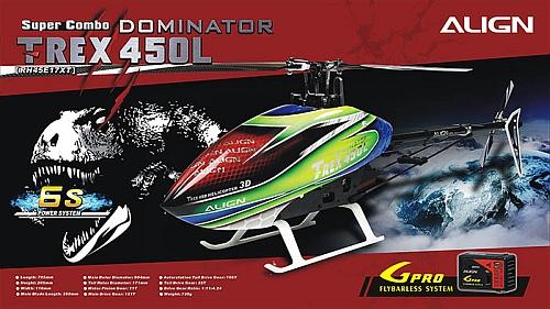 Nový T-REX 450L Dominator Super Combo 6S